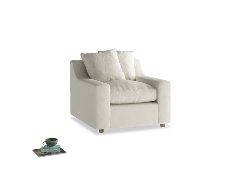 Cloud Armchair in Oat brushed cotton