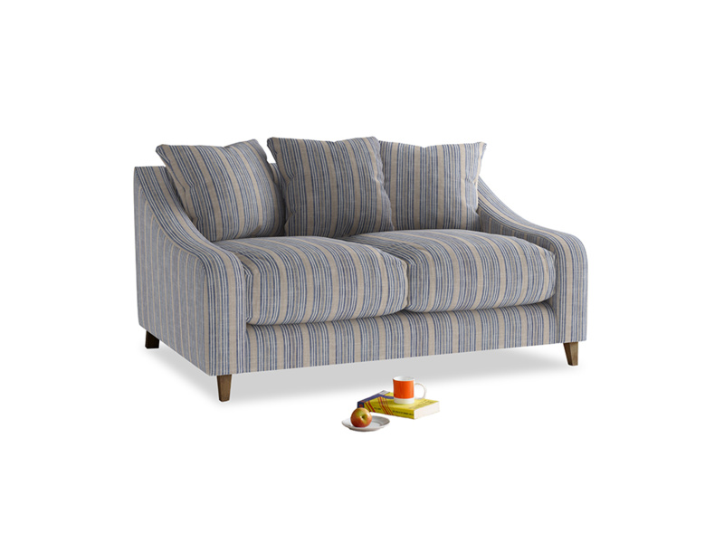 Small Oscar Sofa in Brittany Blue french stripe
