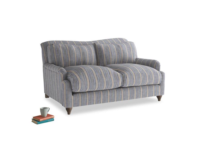 Small Pavlova Sofa in Brittany Blue french stripe