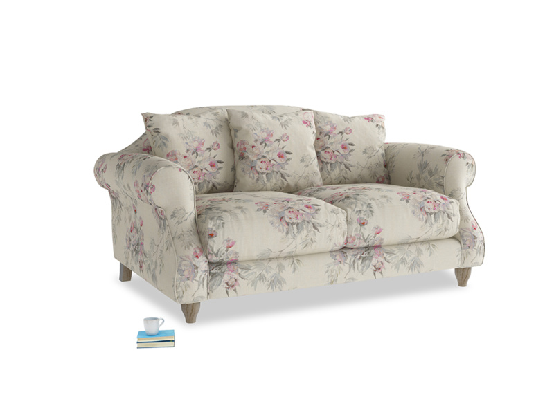 Small Sloucher Sofa in Pink vintage rose