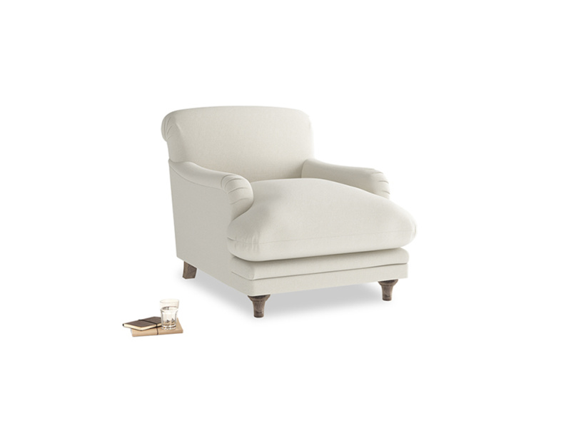 Pudding Armchair in Oat brushed cotton
