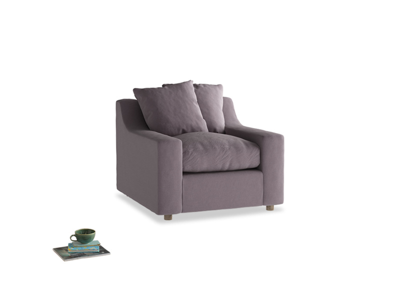 Cloud Armchair in Lavender brushed cotton