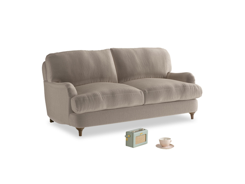 Small Jonesy Sofa in Fawn clever velvet