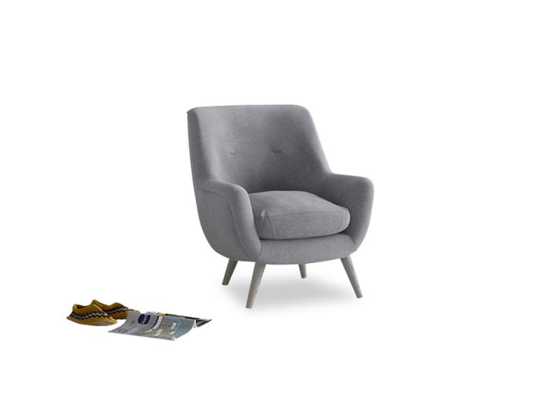 Berlin Armchair in Dove grey wool