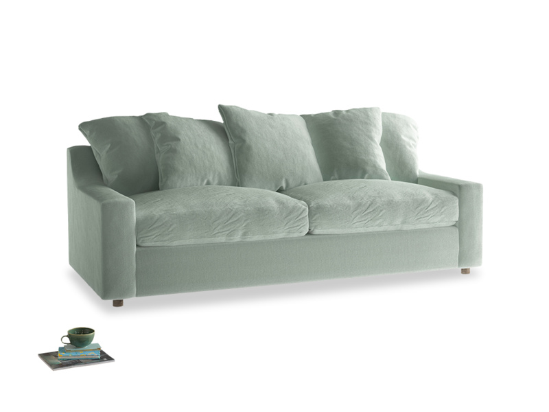 Large Cloud Sofa in Mint clever velvet