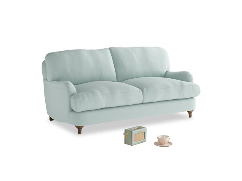 Small Jonesy Sofa in Gull's Egg Brushed Cotton