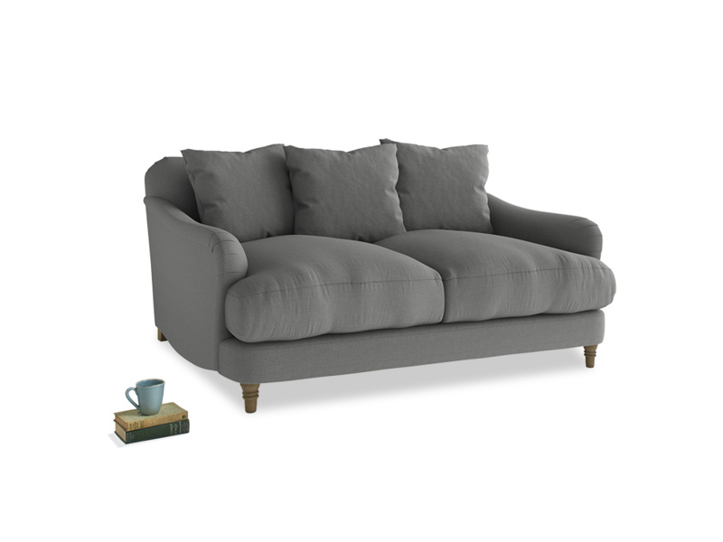 Small Achilles Sofa in French Grey brushed cotton
