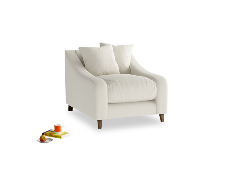 Oscar Armchair in Oat brushed cotton