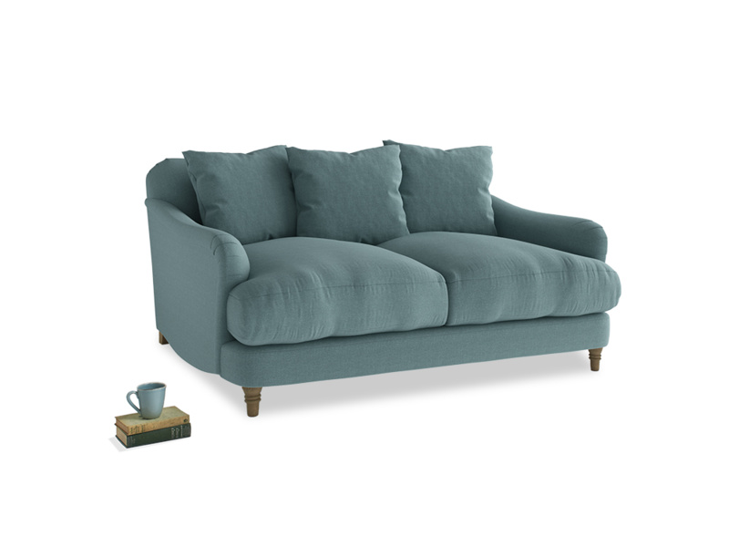 Small Achilles Sofa in Marine washed cotton linen