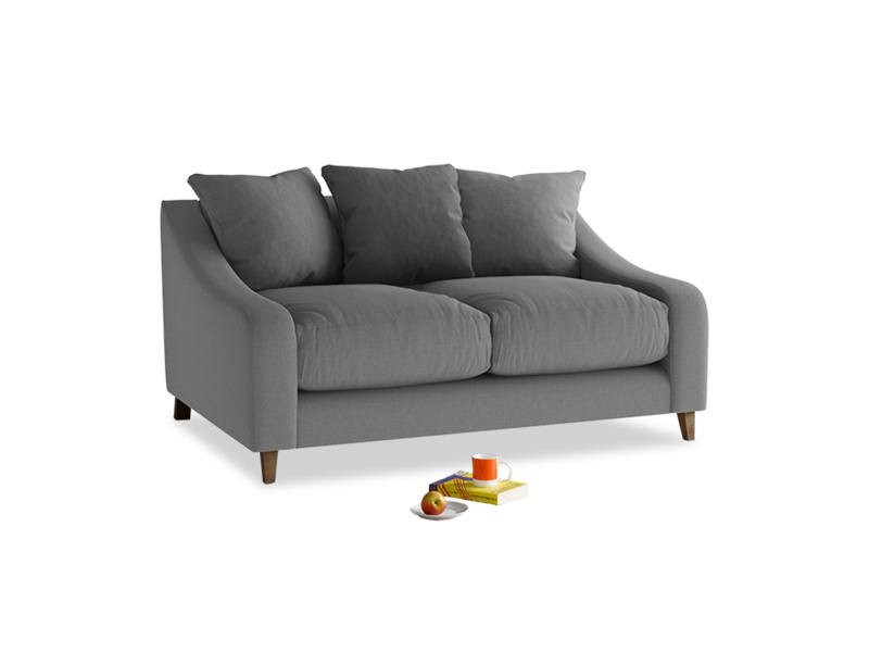 Small Oscar Sofa in French Grey brushed cotton