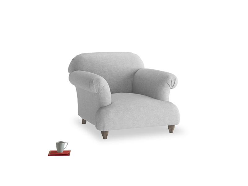 Soufflé Armchair in Cobble house fabric