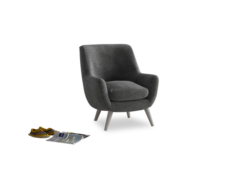 Berlin Armchair in Shadow Grey wool