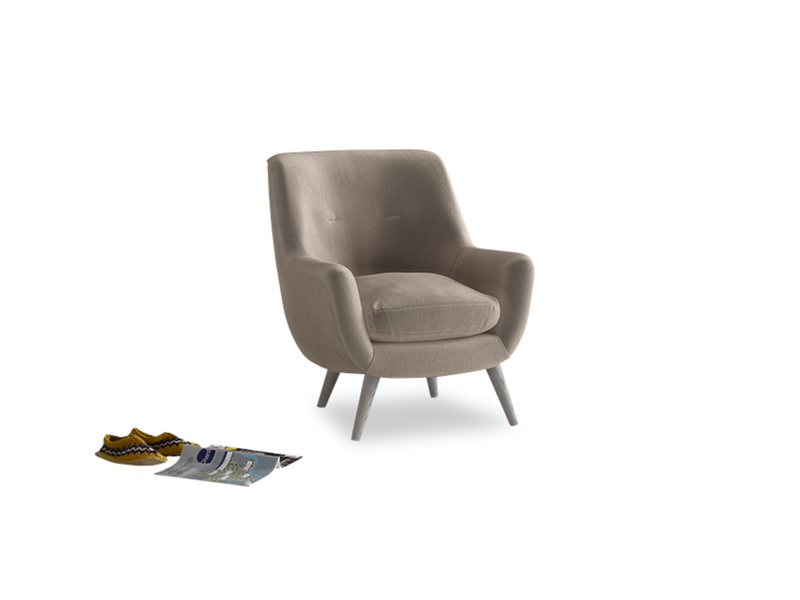 Berlin Armchair in Fawn clever velvet
