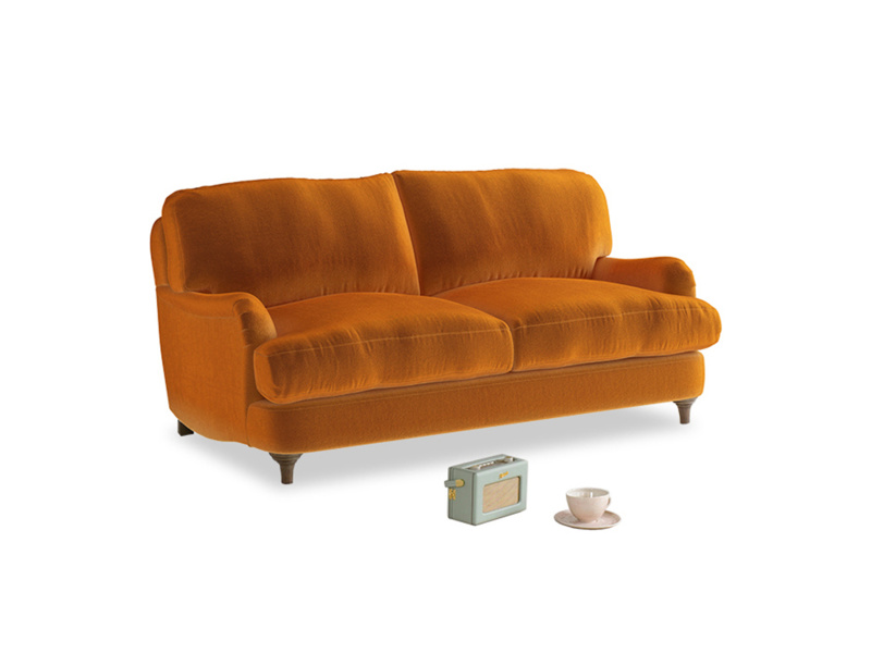Small Jonesy Sofa in Spiced Orange clever velvet