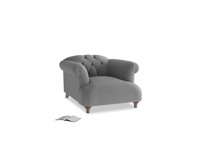 Dixie Armchair in Ash washed cotton linen