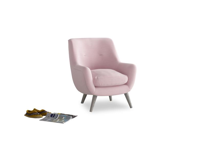 Berlin Armchair in Pale Rose vintage linen