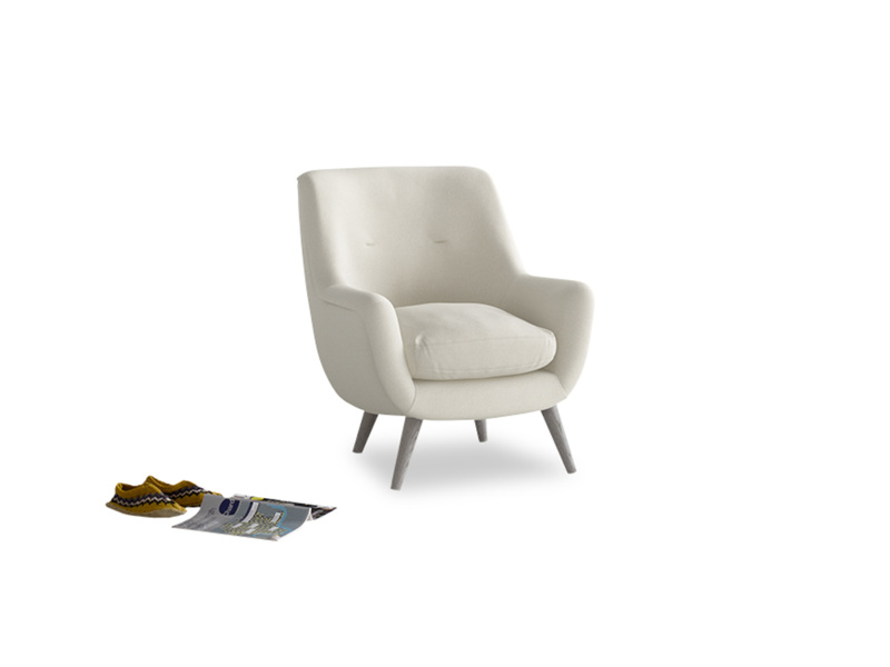 Berlin Armchair in Oat brushed cotton