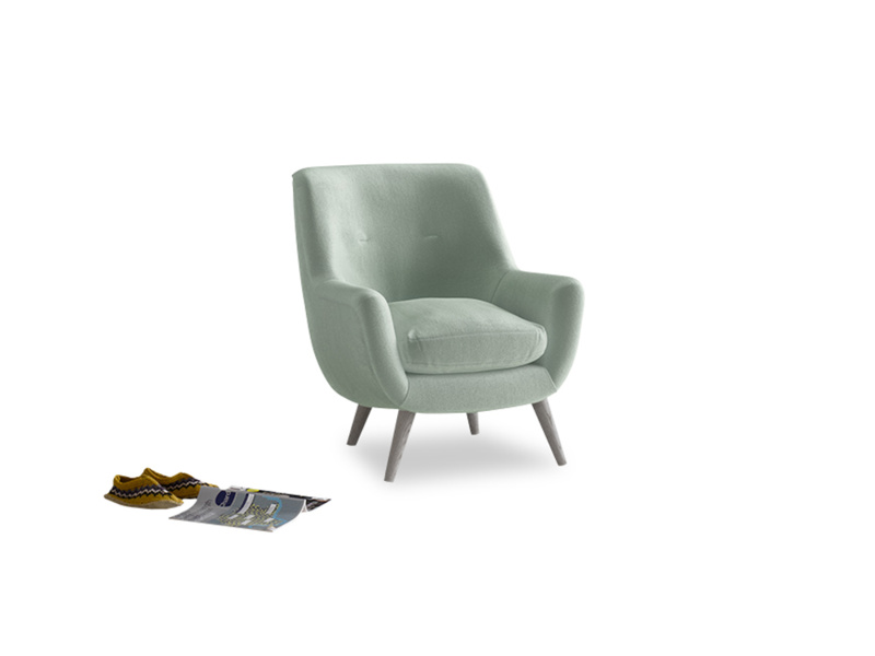 Berlin Armchair in Mint clever velvet
