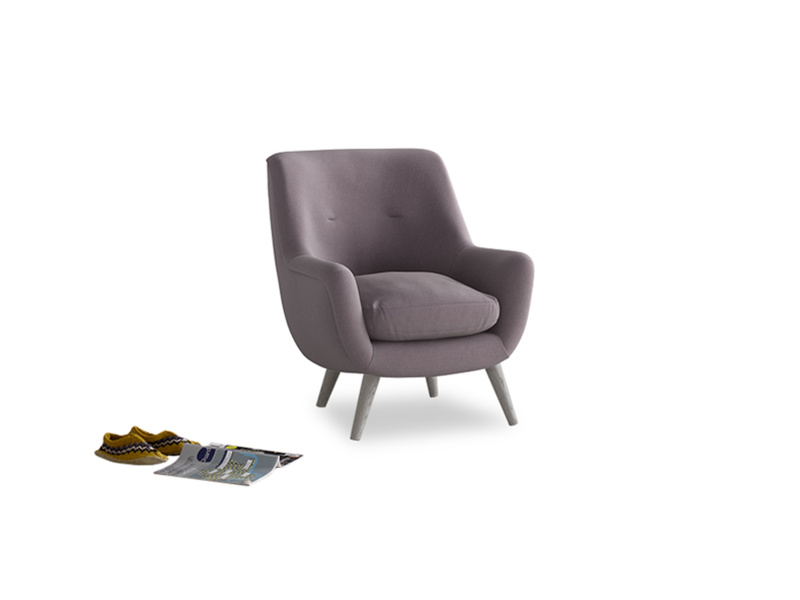 Berlin Armchair in Lavender brushed cotton
