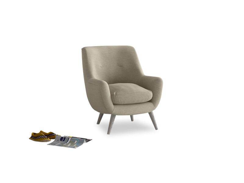 Berlin Armchair in Jute vintage linen
