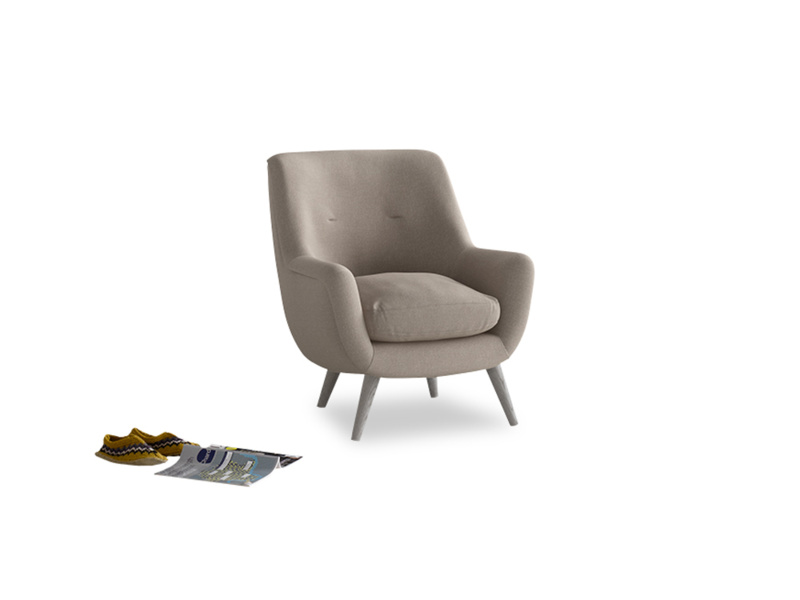 Berlin Armchair in Driftwood brushed cotton