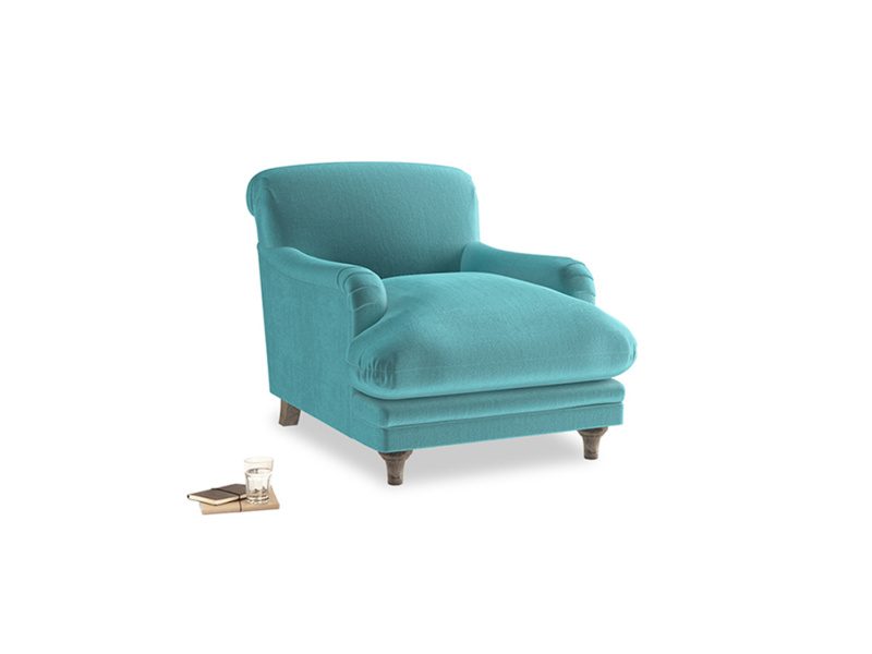 Pudding Armchair in Belize clever velvet