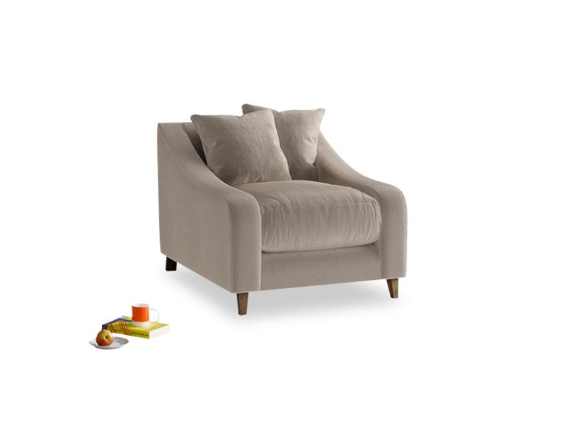 Oscar Armchair in Fawn clever velvet