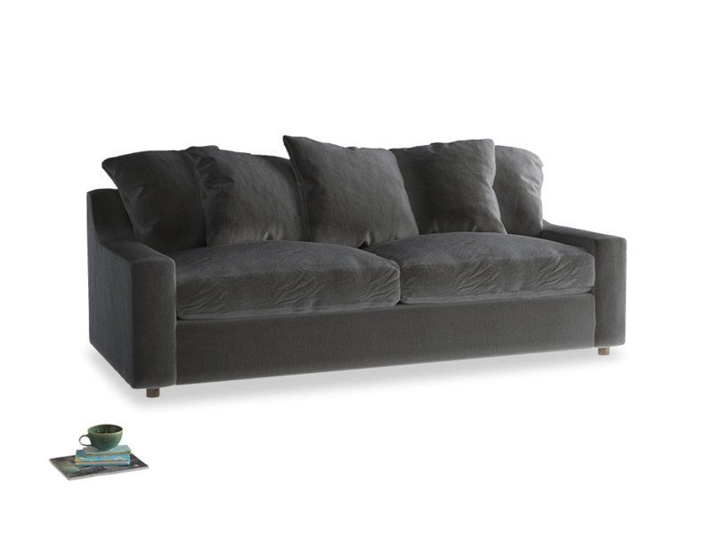 Large Cloud Sofa in Steel clever velvet