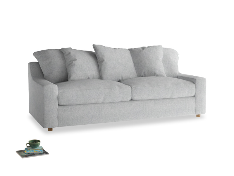 Large Cloud Sofa in Pebble vintage linen