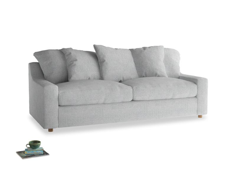 Large Cloud Sofa in Pebble vintage linen