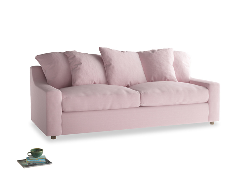 Large Cloud Sofa in Pale Rose vintage linen