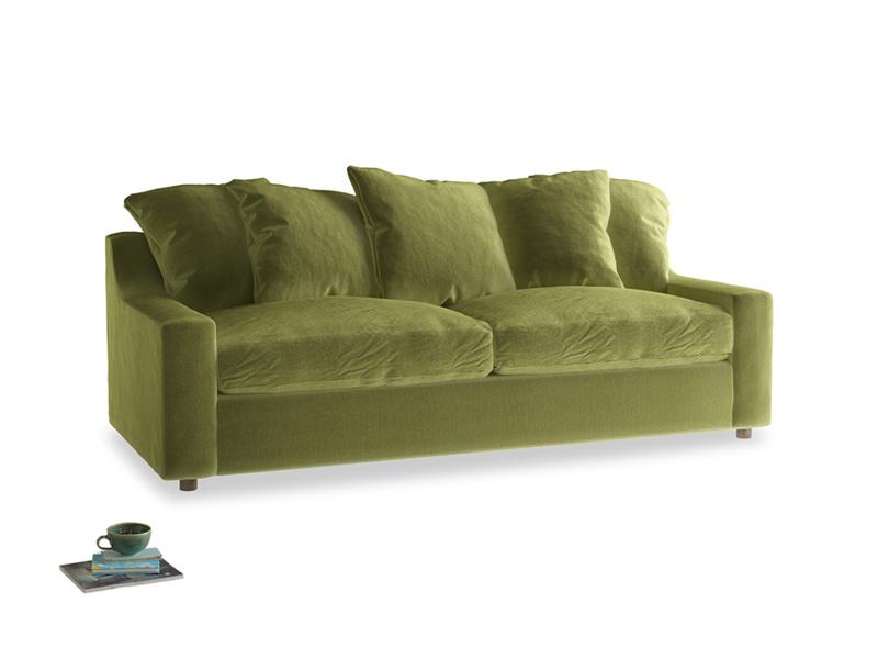 Large Cloud Sofa in Olive plush velvet