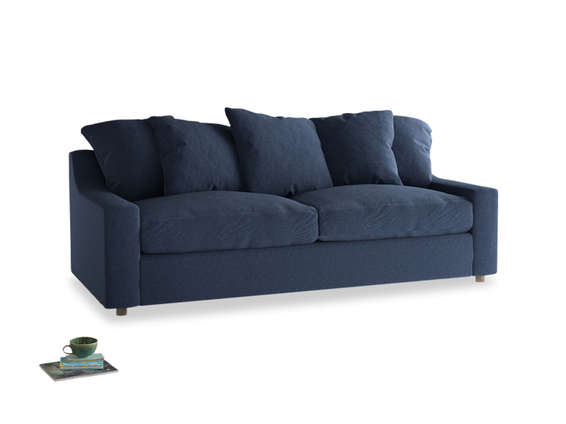 Large Cloud Sofa in Navy blue brushed cotton