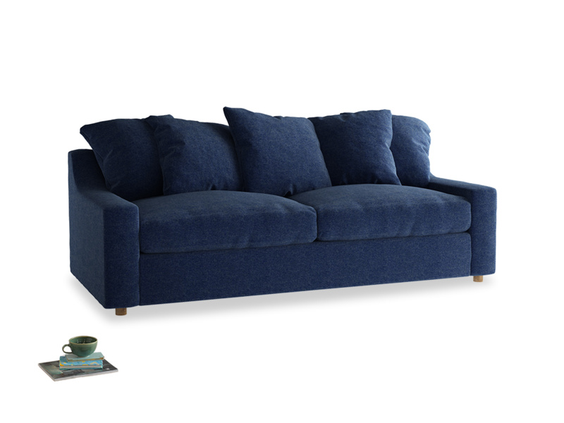 Large Cloud Sofa in Ink Blue wool