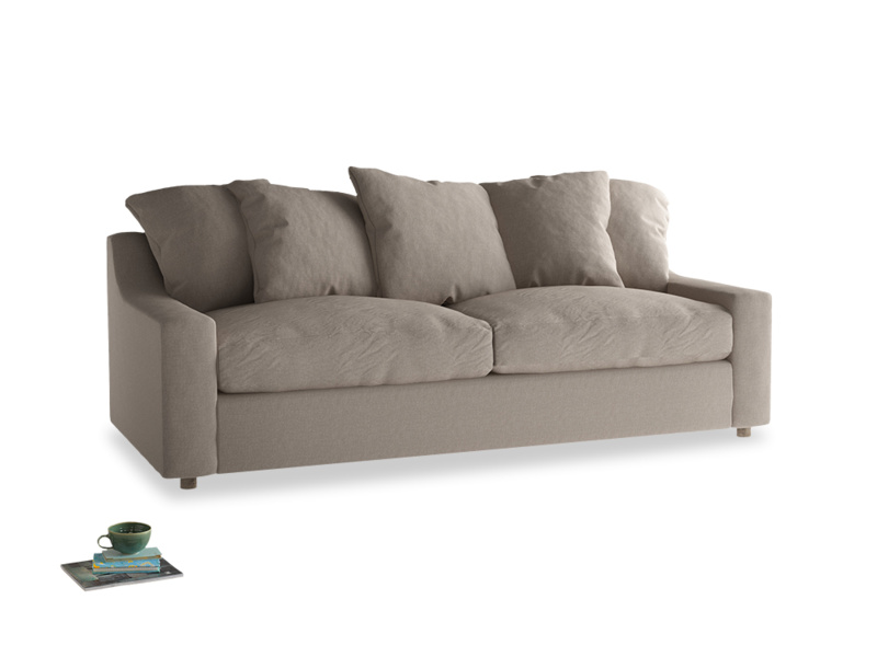 Large Cloud Sofa in Driftwood brushed cotton