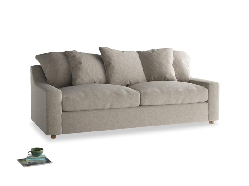 Large Cloud Sofa in Birch wool