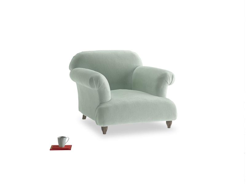Soufflé Armchair in Mint clever velvet