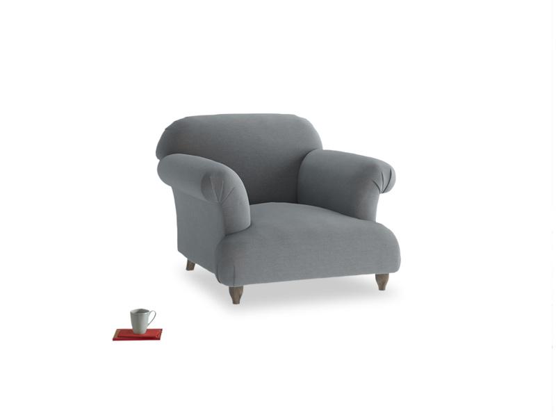 Soufflé Armchair in Dusk vintage linen