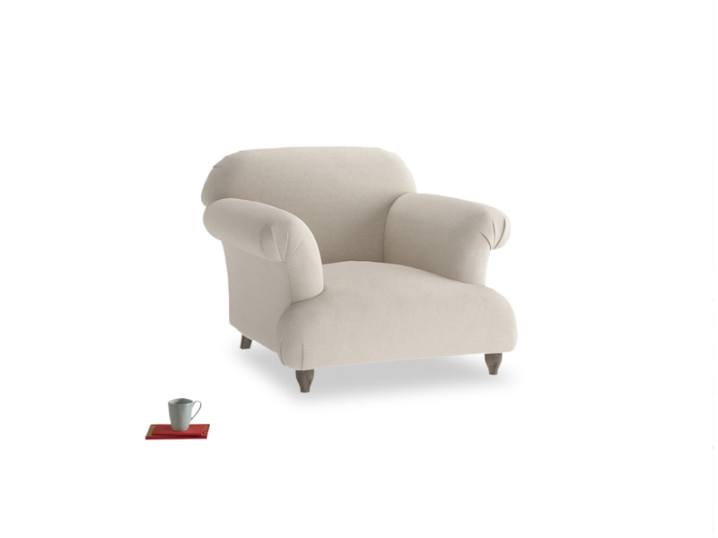 Soufflé Armchair in Buff brushed cotton