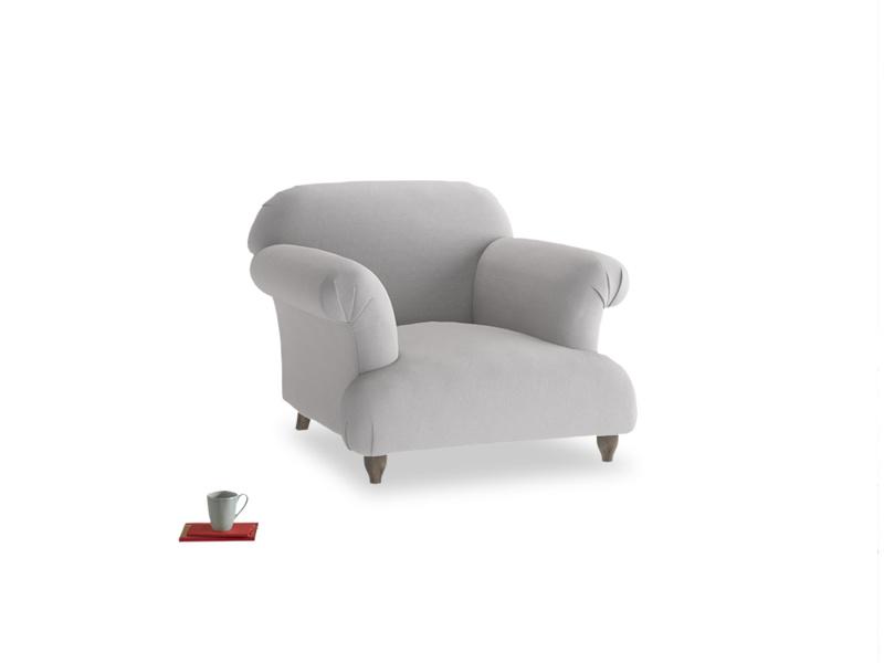 Soufflé Armchair in Flint brushed cotton