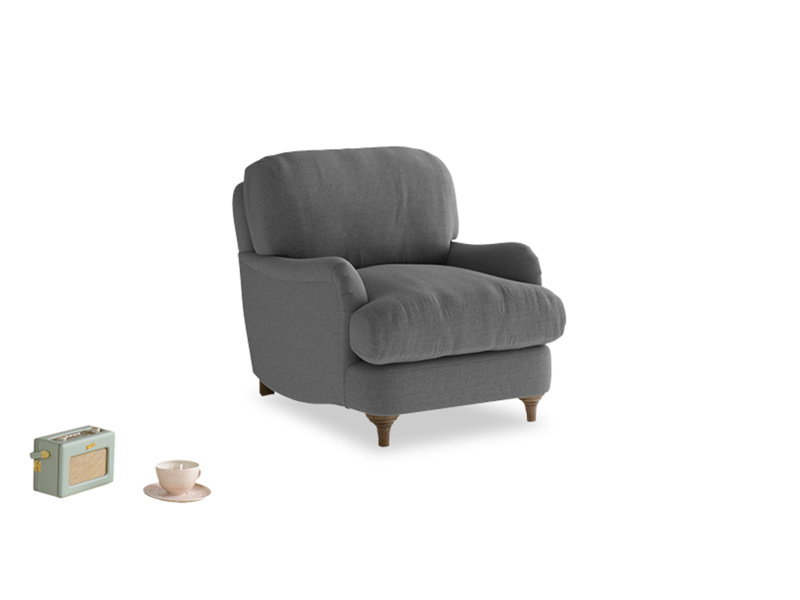 Jonesy Armchair in Ash washed cotton linen