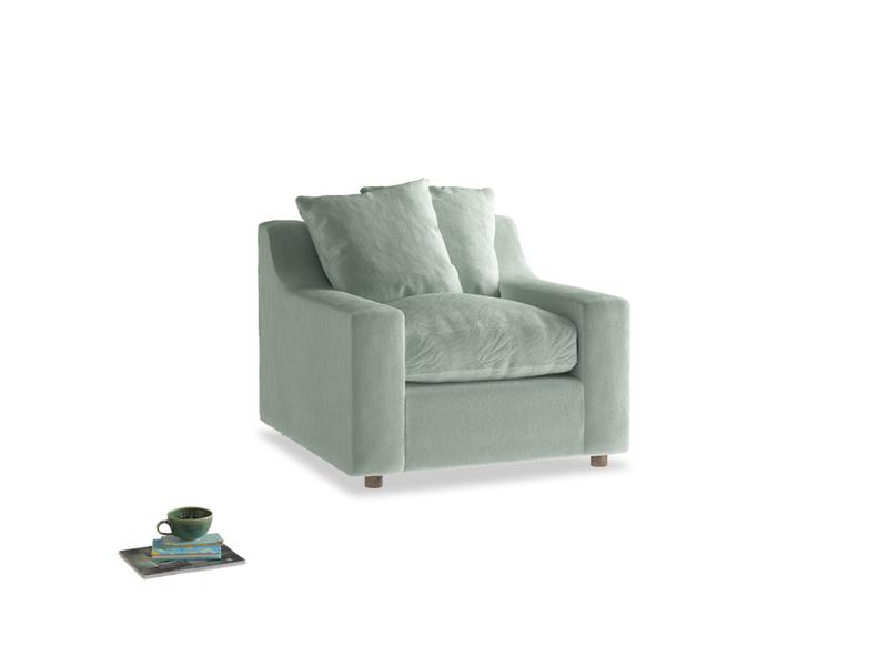 Cloud Armchair in Mint clever velvet