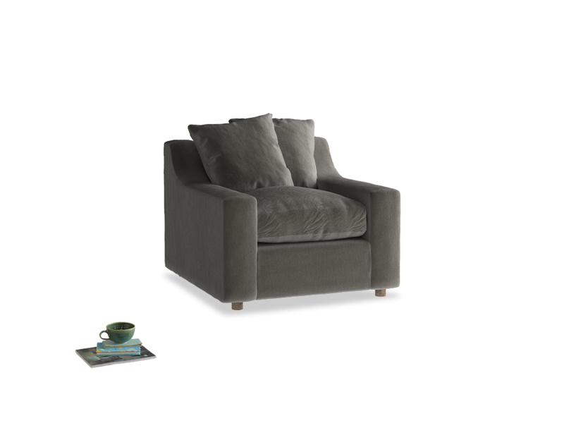 Cloud Armchair in Slate clever velvet