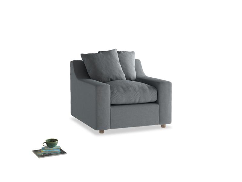 Cloud Armchair in Dusk vintage linen