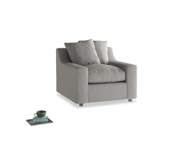 Cloud Armchair in Wolf brushed cotton