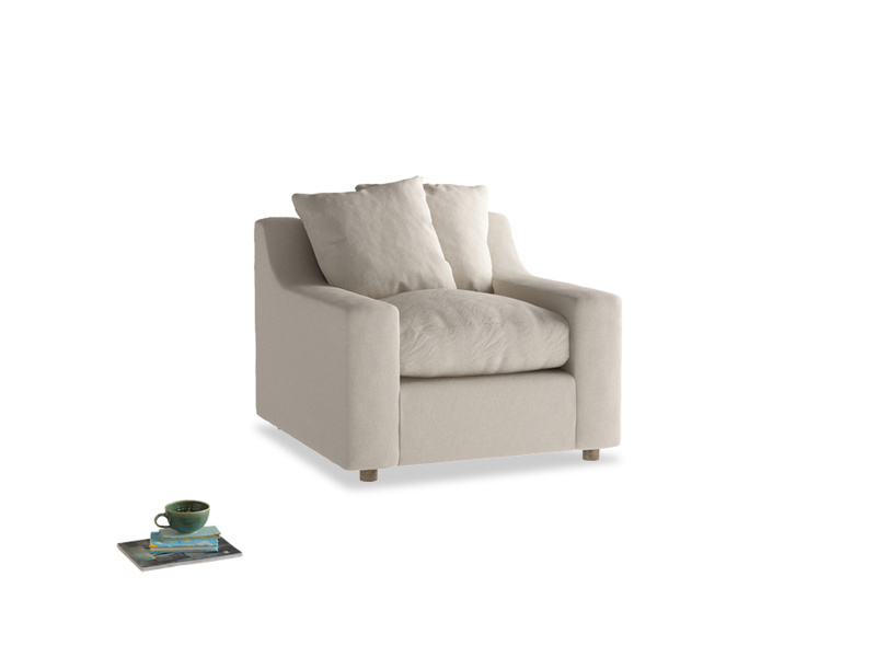 Cloud Armchair in Buff brushed cotton