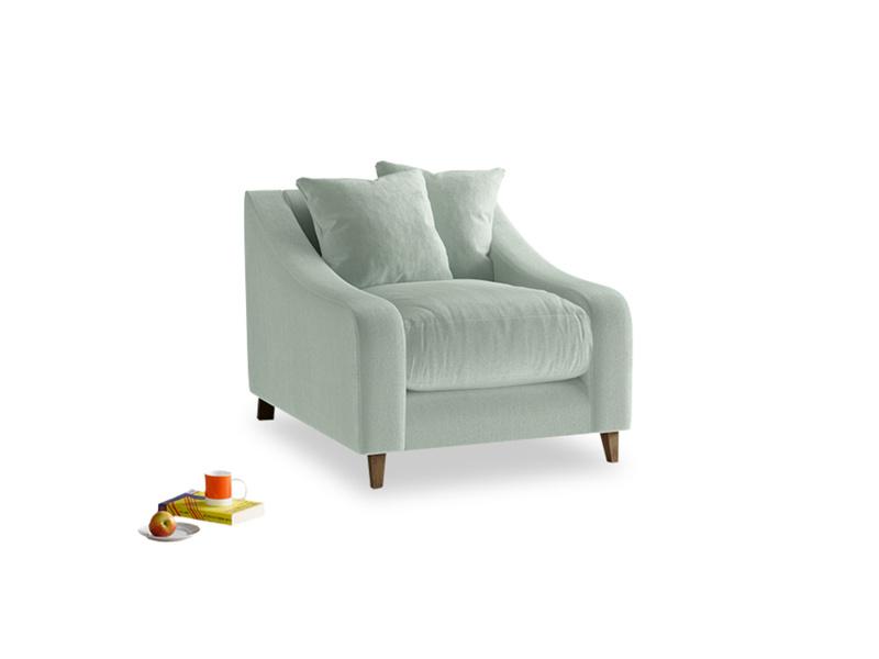 Oscar Armchair in Mint clever velvet