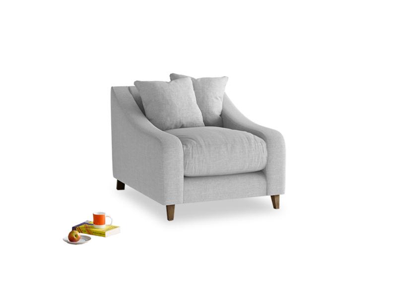 Oscar Armchair in Cobble house fabric