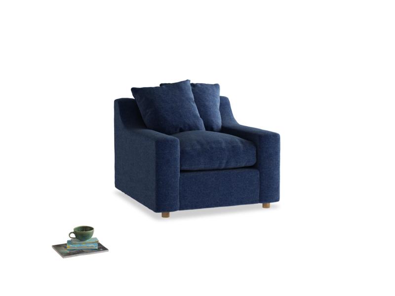 Cloud Armchair in Ink Blue wool