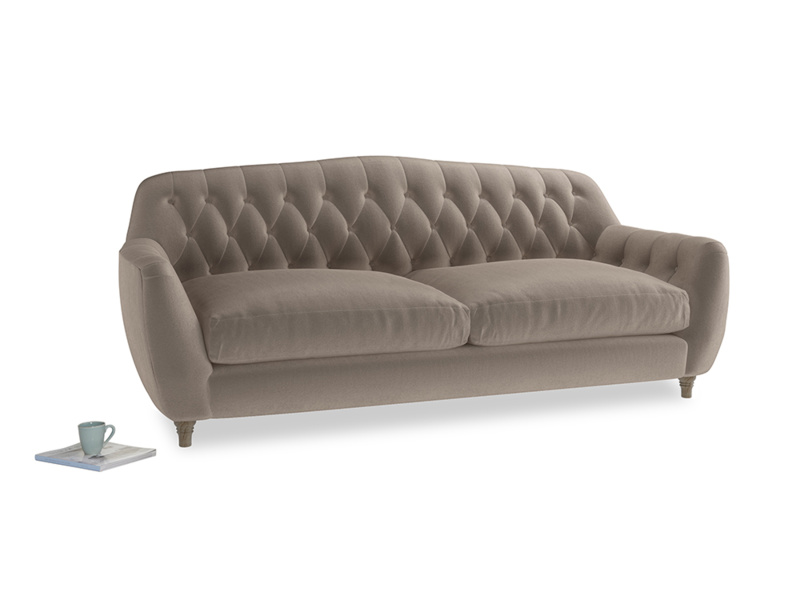 Large Butterbump Sofa in Fawn clever velvet